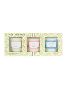 Linea Set of 3 Scented Votives Giftset