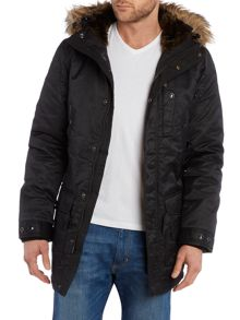 Schott NYC Longline Faux Fur Lined Fur Hooded Parka