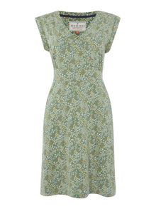 Brakeburn Floral wrap dress
