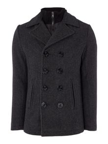 Schott NYC Double Breasted Wool Peacoat