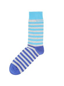 Divided stripe socks