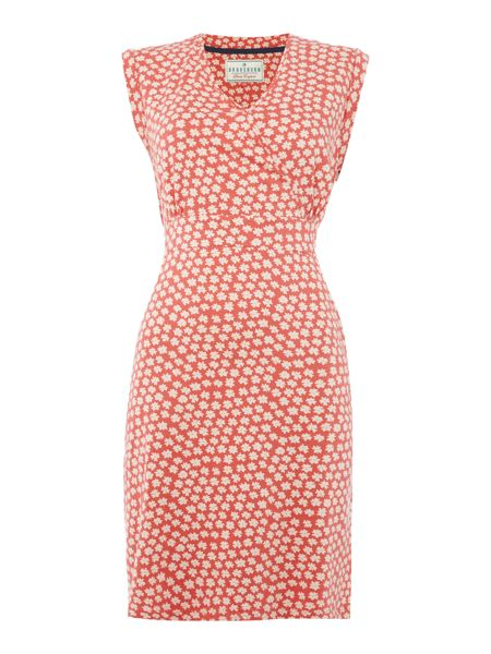 Brakeburn Delicate daisy wrap dress