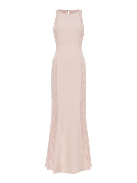 Untold Sleeveless gown with lace side panels