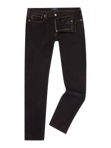 Slim fit stretch black overdye jean