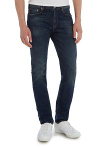 Slim fit stretch antique wash jean