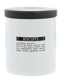 Word print biscuit jar