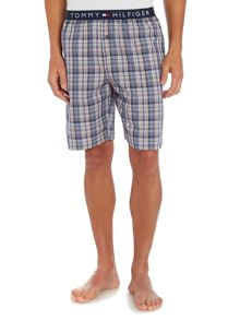 Woven check sleep shorts