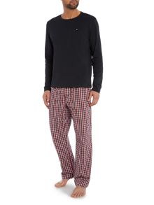 Checked bottom and long sleeve top gift set