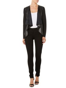 Vero Moda Long Sleeved PU Waterfall Jacket