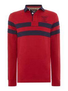 Barbour Land Rover rugby long sleeve wakefield ruby