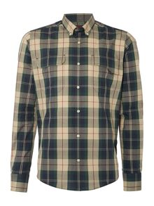 Barbour Land Rover Rugby chester long sleeve shirt