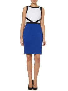 Colour block scuba dress
