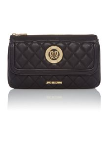 Love Moschino Superquilt black multi-functional shoulder bag