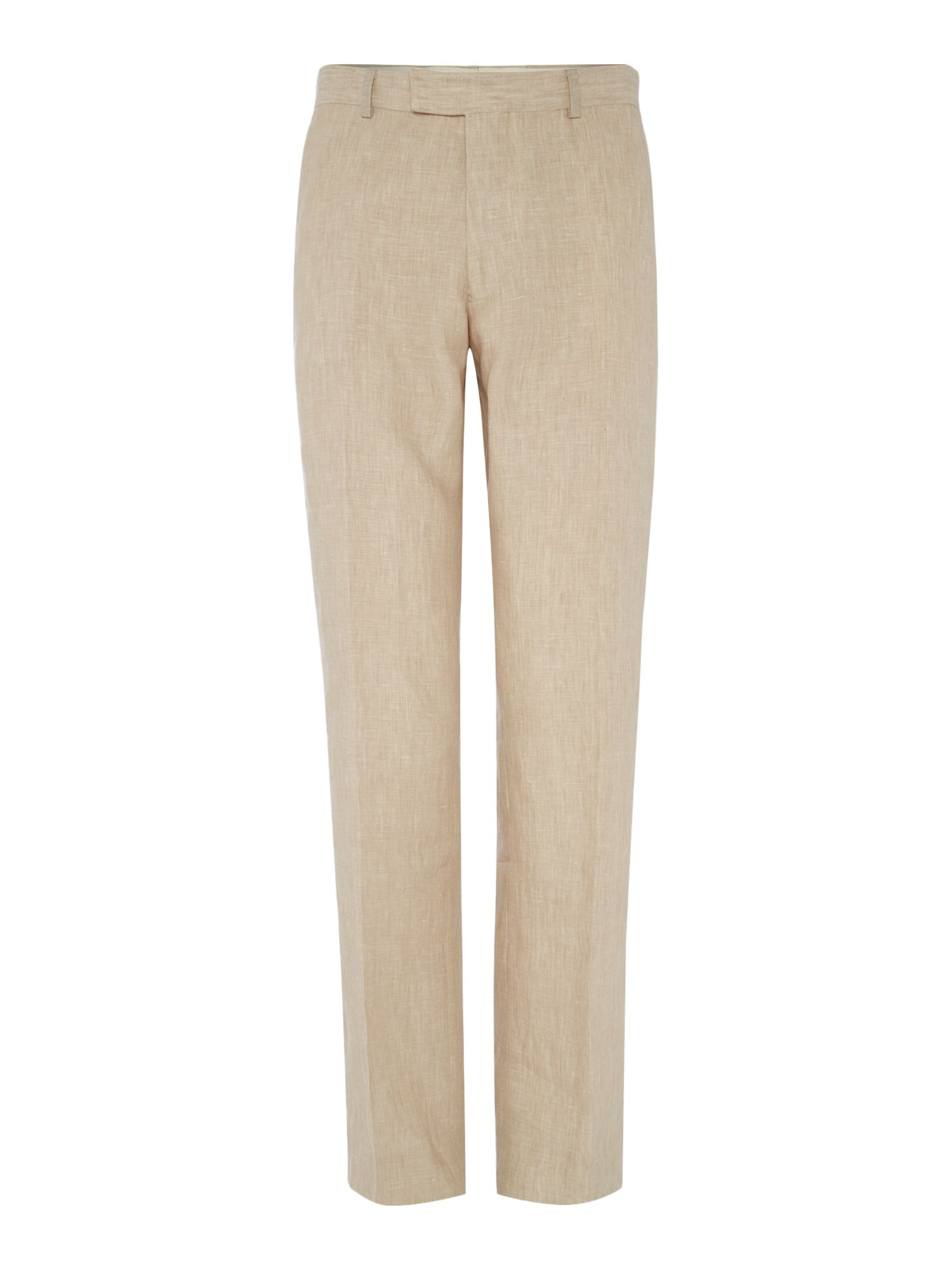 Howick Tailored Men's Howick Tailored Fabens Flat Front Linen Trousers, Natural
