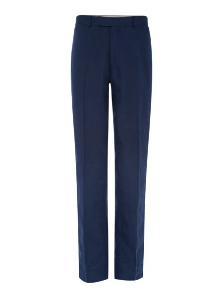 Howick Tailored Fabens Flat Front Linen Trousers