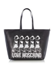 Love Moschino Item shopper black extra large tote bag