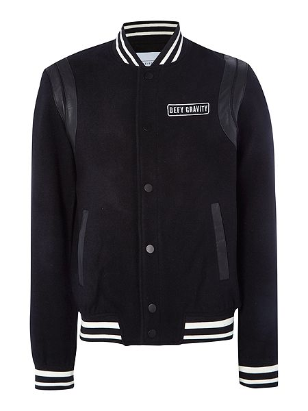 Eleven Paris Defy Gravity Button Down Baseball Jacket