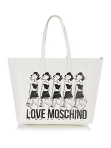 Love Moschino Item shopper white extra large tote bag