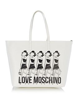 Item shopper white extra large tote bag