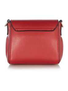 Love Moschino Love lock red small crossbody bag
