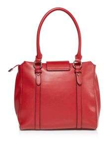 Love Moschino Love lock red large shoulder bag