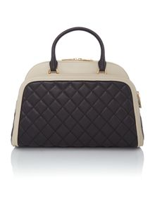 Love Moschino Superquilt monochrome large quilt dome bag