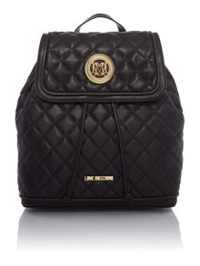 Love Moschino Superquilt black quilted backpack