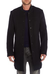 Eleven Paris Button Down Wool Overcoat
