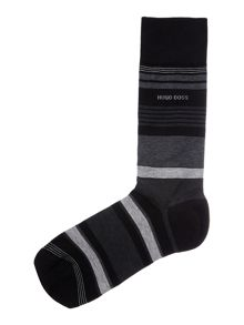 Mercerized striped socks