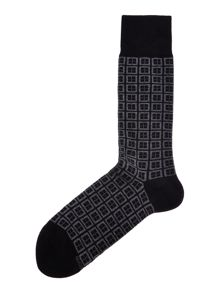 Hugo Boss Squares print socks