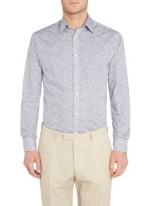 Howick Tailored Bardon Small Leaf Print Shirt