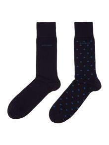 2 pack of spot and plain socks