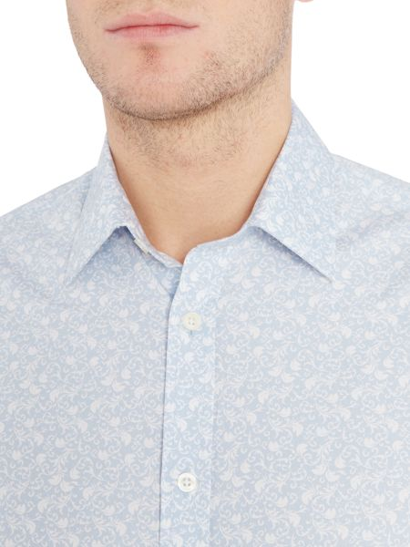 Howick Tailored Dumbarton Floral Print Shirt