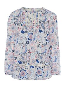 Little Dickins & Jones Girls Floral print blouse