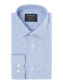 Howick Tailored Albion Bengal Stripe Cotton Shirt