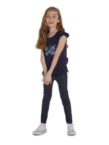 Little Dickins & Jones Girls Butterfly embroidered tee