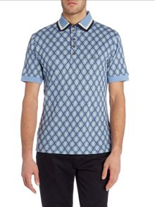 Regular fit short sleeve check polo shirt