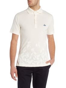 Regular fit rose printed polo shirt
