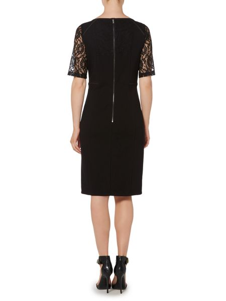 Pied a Terre Lace detail ponte dress