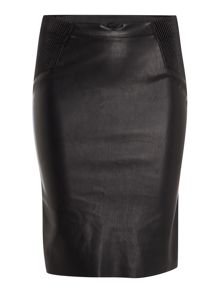 Vero Moda High Waisted PU Pencil Skirt