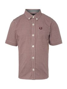 Fred Perry Boys Gingham shirt