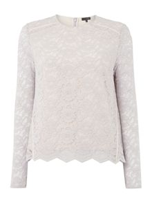 Pied a Terre Long sleeve lace top