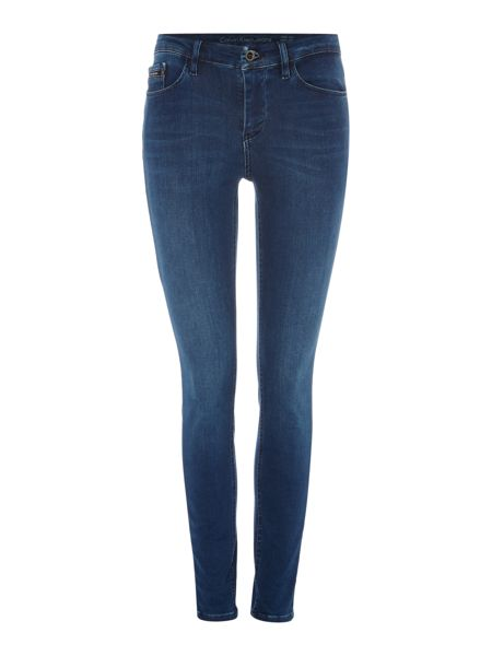 Calvin Klein High rise skinny jean in crushed eighties stretch