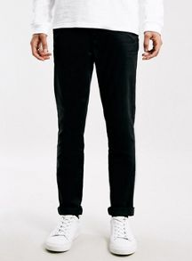 Topman Black Stretch Skinny Chino