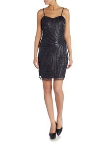 Sleeveless All Over Beading Bodycon Dress