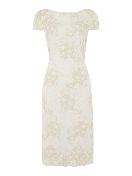 Shubette Floral embroidered shift dress