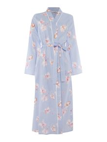 Nora Rose Floral cotton robe