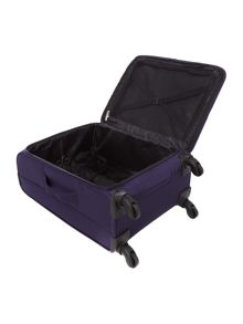 Linea Helston purple 4 wheel medium suitcase