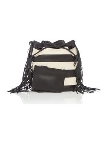 Polo Ralph Lauren Monochrome pieced bucket bag