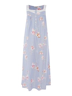 Lace trim floral nightdress